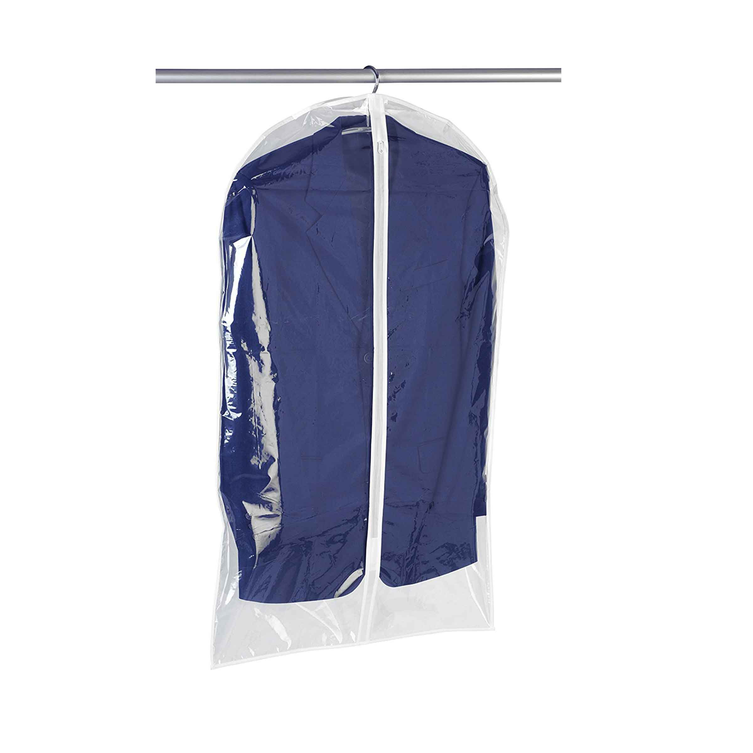 Housse de vêtements à suspendre en plastique transparent