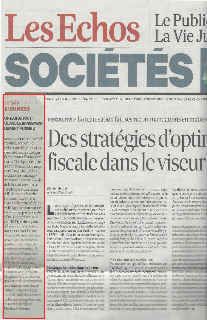 Article sur Onrangetout - Les Echos