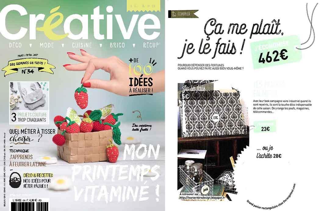 Une du magazine créative mars avril