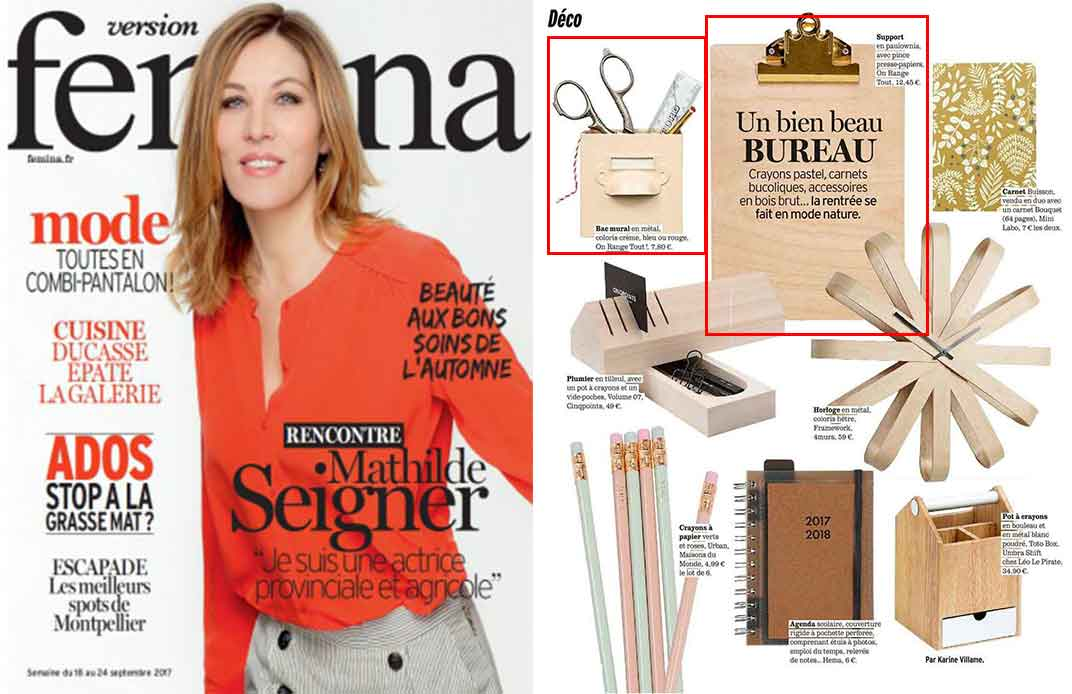 Magazine Femina septembre 2017