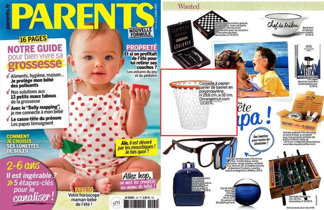 Une du magazine parents juillet 2017