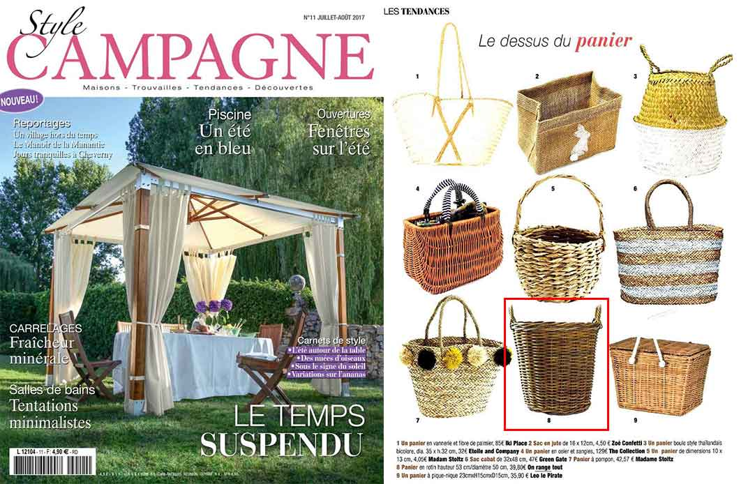Magazine style campagne juillet août 2017